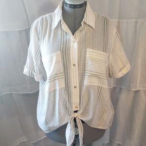 Michael Kors Dusty Coral Beach Summer Shirt